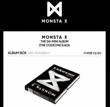 MONSTA X 5th Mini Album THE CODE 2VER SET CD+Booklet+PhotoCard NONE POSTER