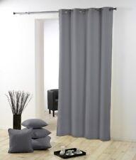 Douceur D'intérieur Rideau oeillets Polyester Uni Essentie(140 x 260 cm Gris)