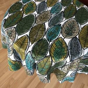 Tablecloth Table runner Round Square Scandinavian cotton fabric Green Leaves