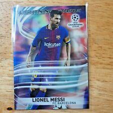 2017-18 TOPPS UEFA CHAMPIONS LEAGUE LIONEL MESSI BARCELONA LIGHTNING STRIKE
