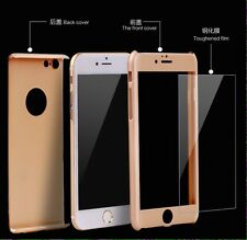 Hybrid 360° Hard Ultra thin Case Tempered Glass Full Body Cover For iPhone 6 6S