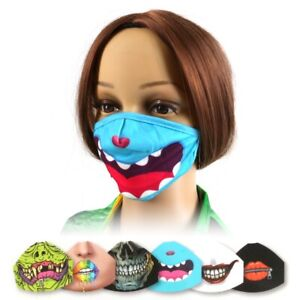 KIDS REUSABLE FABRIC FACE MASK Stretchy Breathable Washable Childrens Over Ear