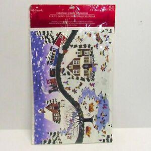 Vintage Hallmark Countdown to Christmas Advent Calendar NEW Hillville Village