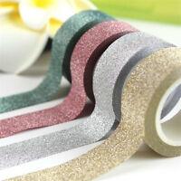 10M Glitter Washi Tape Paper Self Adhesive Stick On Sticky Craft DIY Decorative