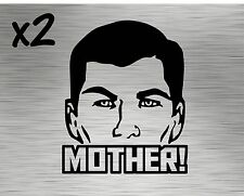 (2) Archer Mother Decals - Stickers Vinyl Sterling Lana Danger Zone fx Funny Tv