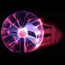 Magic USB Glass Sphere Plasma Ball Lightning Lamp Light Disco Party Black Base