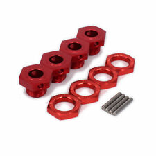1/8 RC Car Buggy 17mm Red Alloy Hex  Wheel Hub For Kyosho Inferno Mp9 Hpi Vorza