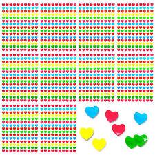 1500 x Herz Sticker Herzen Aufkleber Bunt Glänzend Scrapbooking Deko Kinder