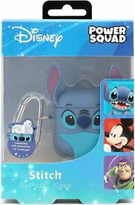 PowerSquad Stitch 3D AirPods Case Cover Blue Wireless Earbuds Earphone Headphone