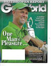 Stewart Cink Signed/Autographed GolfWorld