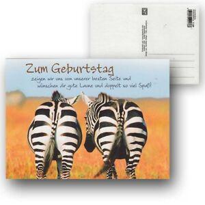 Cartolini Postkarte Karte Sprüche Zitate 15,5 x 11,5 cm Zum Geburtstag zeigen wi