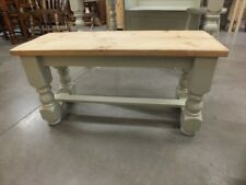 RECLAIMED PAINTED 3' LOW BENCH BESPOKE SIZES & COLOURS F&B FRENCH GRAY