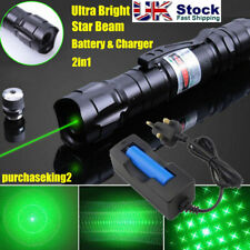 More details for green laser pointer pen rechargable lazer visible beam 0.1 mw+battery+charger