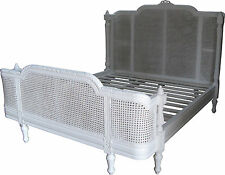 French Provencal Francesca Rattan Bed in White 6' Super King Size B002pw