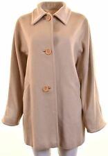 MAX MARA Womens Chesterfield Coat UK 10 Small Beige Wool Oversized LY14