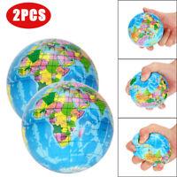 2PCS Stress Relief Weltkarte Jumbo Ball Atlas Globe Palm Ball Planet Erde Ball