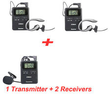 UHF 815-823MHZ Wireless Tour Guide System for tourism,Square Dance,yoga,1T2R
