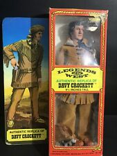 """1973 EXCEL LEGENDS OF THE WEST Davy Crockett 9 1/2"""" ACTION FIGURE DOLL"""