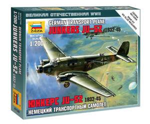 Zvezda 1/200 German Junkers JU-52 Transport Plane 1932-45 - Z6139