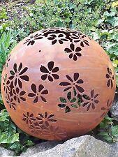 Nobile Ruggine SFERA pianta del piano 50 CM DECORAZIONE GIARDINO pilastro pflanzschale orti mondo sfera