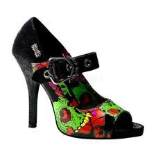 *** Demonia shoes Zombie-07 goth punk zombie print mary jane pumps heels 8