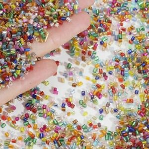 700pcs Crystal Seed Spacer Beads 2mm Multicolor Glass Loose Bead Jewelry Making