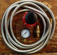 HP, Regulator Kit  for Cookers & Smokers. 0-30 Psi, 10 Stainless Braided  Hose