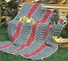 *Textured Afghan crochet PATTERN INSTRUCTIONS