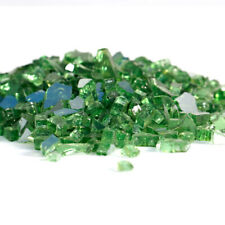 "10lbs 1/2"" Green Reflective Fire Glass crystals Fireplace Half Inch Bali Outdoor"