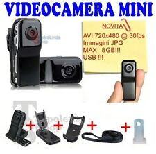 PDR*MINI DV TELECAMERA VIDEOCAMERA MD80 VIDEO/AUDIO DVR WEBCAM USB MICRO SD SPY