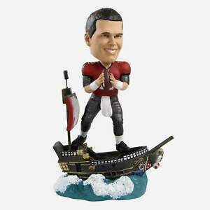 Tom Brady Tampa Bay Buccaneers Pirate Ship Bobblehead NFL