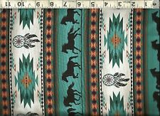 Elizabeth's Studio ~ Southwest Stripes Horses 2 100% Cotton Sew Quilt Fabric BTY