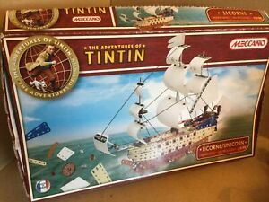 Meccano TinTin Unicorn ship set (0553) Sealed Complete Contents , Open Box