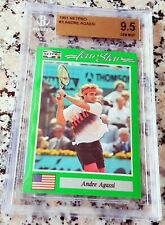 ANDRE AGASSI 1991 Netpro SP Rookie Card RC BGS 9.5 GEM Legend HOF Grand Slam $$$
