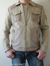 Tom Tailor Jacke aus Echleder und Textil, Beige, Gr. S/46
