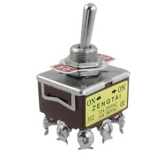 AC 250V 15A 380V 10A ON/ON 2 Position 3PDT 9 Screw Terminals Toggle Switch