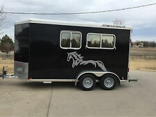Horse Decal Sticker Graphic Horse Trailer Equestrian RV Decal Stickers 22x44