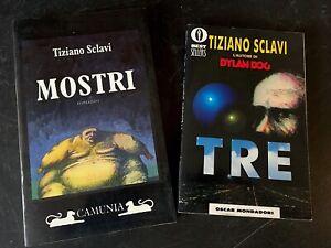 Tiziano Sclavi - Lotto 2 Romanzi - Mostri Camunia 1994 - TRE - Mondadori 1994