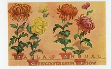 Dallas TX Chrysanthemum Show—Antique Expo Advertising PC Flowers 1907