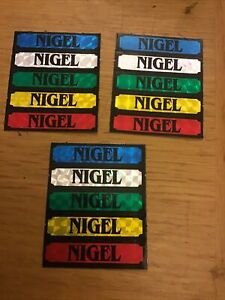 NIGEL Foil Name Stickers Retro But Unused Ideal For Card Phone Craftes Bike Car