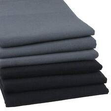 6er Set hochwertige Geschirrtücher Schwarz und Anthrazit Küchen-Handtuch Küche