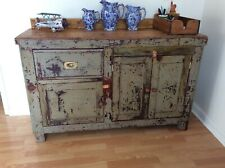 More details for vintage painted victorian workbench converted to kitchen island/sideboard