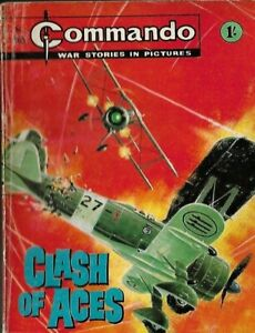 CLASH OF ACES,COMMANDO WAR STORIES IN PICTURES,NO.465,WAR COMIC,1970