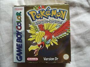 jeu Game Boy Color Pokemon version OR / neuf complet déblisté -FR-nintendo