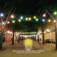 Colorful Globe Light Bulb Lamps E27 3W SMD2835 LED Lamp Bar Home Decor Lighting
