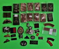Nice lot of   British military   ranks &  patches .