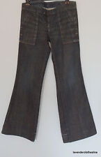"Citizens Of Humanity 27 Flare Leg Cross Hatch Wash Denim Jeans 30"" Inseam"