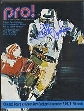 Bobby Douglass signed Chicago Bears vs Green Bay Packers 1971 football program