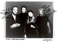 **PAT BENATAR & NEIL GERALDO SIGNED 8x10 PHOTO AUTHENTIC AUTOGRAPH ROCK NICE **