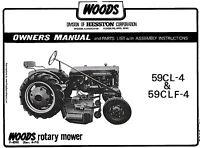 WOODS Belly Mower 59CL-4 59CLF-4 Operators manual ** Fits FARMALL CUB **